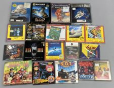 19 boxed Commodore Amiga games console games. (19) [NO RESERVE]