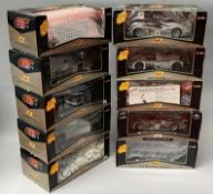10 Maisto 1/18 scale GT Racing diecast model cars. All boxed.