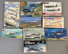 EX DEALER STOCK: 9x Airfix model kits including Aviation and a World Rally example. All appear