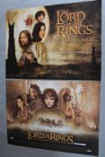 The Lord of the Rings The Fellowship of the Ring original rolled British quad film poster plus the
