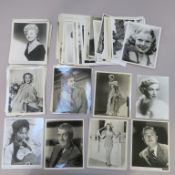 110 approx vintage portraits vast majority 10 x 8 inch stars including James Stewart, Esther