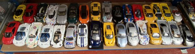 53 unboxed diecast model cars - mostly 1/18 scale.