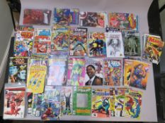 Marvel comics in excellent condition including She-Hulk #1, X-Force 1 (sealed), Star Trek #1,