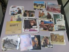 150+ cinema stills and lobby cards, mainly French including Spartacus starring Kirk Douglas,