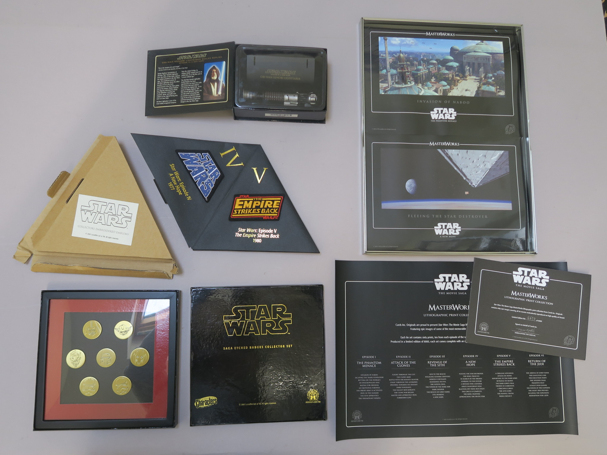 Lot 16 - Star Wars collection including Masterworks lithographic print collection in tin limited edition 4670