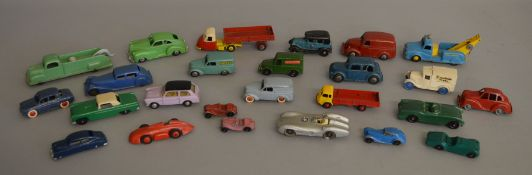 Mixed lot of unboxed diecast models of various manufacturers including 3x Timpo Toys, 3x Budgie