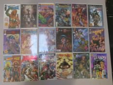 17 Signed comics including Cyberforce #25 (signed by Brian Holguin, David Finch, Anthony Chun and