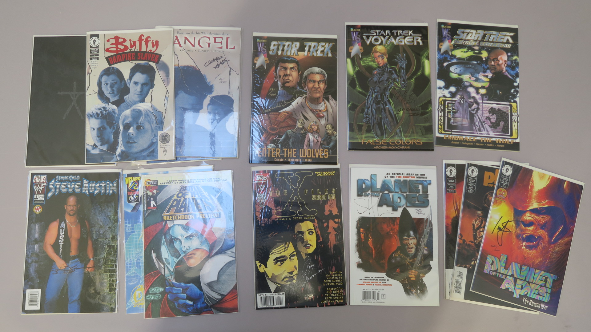 Lot 3 - Signed comics including The X Files Season 1 signed by Roy Thomas, Star Trek Enter the Wolves signed