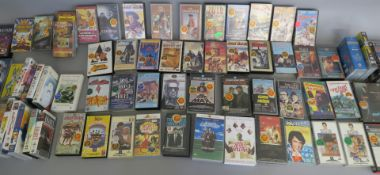 Over 80 vhs ex-rental videos directly from a closed video shop and offered for sale for the first