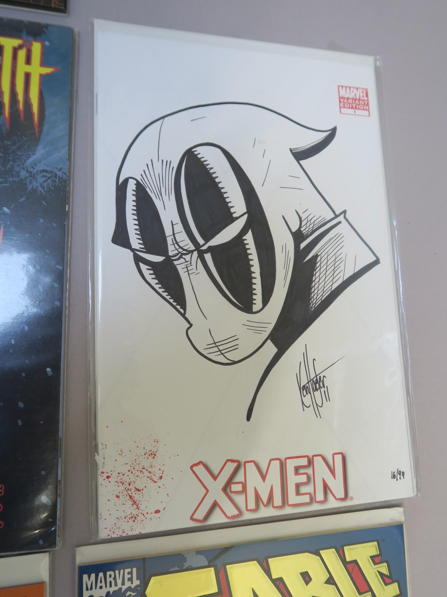 Lot 1 - Marvel X-Men signed comics including X-Men #2 signed by Chris Claremont (13/25), X-Men #25 signed by