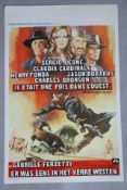 Once upon a time in the West superb rolled condition Belgian film poster for the Sergio Leone