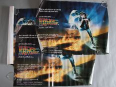 "3 x ""Back to the Future"" original 1985 British quad film posters in various rolled conditions,"