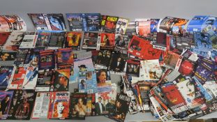 Collection of thriller genre video sleeves from a closed video shop. Titles include True Romance,