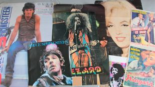 18 poster lot inc Bruce Springsteen rolled condition promotional 27 x 40 inch and a smaller