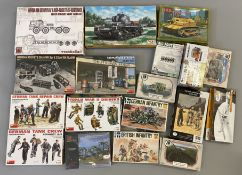 EX DEALER STOCK: 18x assorted model kits including MiniArt, Model Collect, CMK etc. All appear