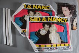 "5 x ""Sid and Nancy"" original 1986 punk love story British quad film posters in various rolled"