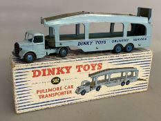 Dinky Supertoys 582 Pullmore Car Transporter - rare 6 rivet version with light blue cab. With