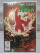 Stan Lee signed Incredible Hulk #600 Marvel comic with Alex Ross painted cover and Dynamic Forces