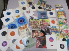 Record collection of singles including picture sleeves - Jive Bunny, The Clash, 17, Ltd Ed colour
