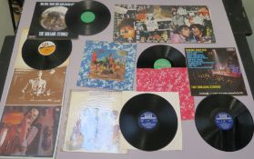 The Rolling Stones LPs including TXS 103 Decca unboxed Their Satanic Majesty's Request with