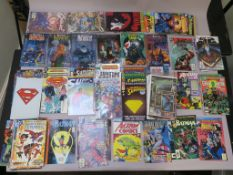 DC comics modern age collection including Action Comics #1 (reprint), Harley Quinn #1, Justice