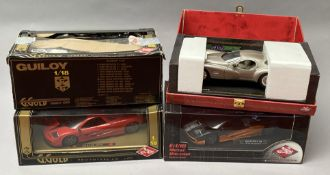 4 Guiloy 1/18 scale diecast model cars. All boxed.