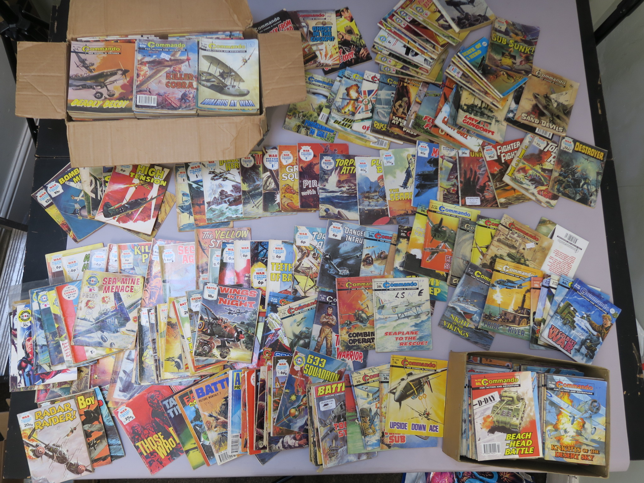 Lot 24 - Commando, War Picture Library, Air Ace Picture Library, including pre-decimal editions and later