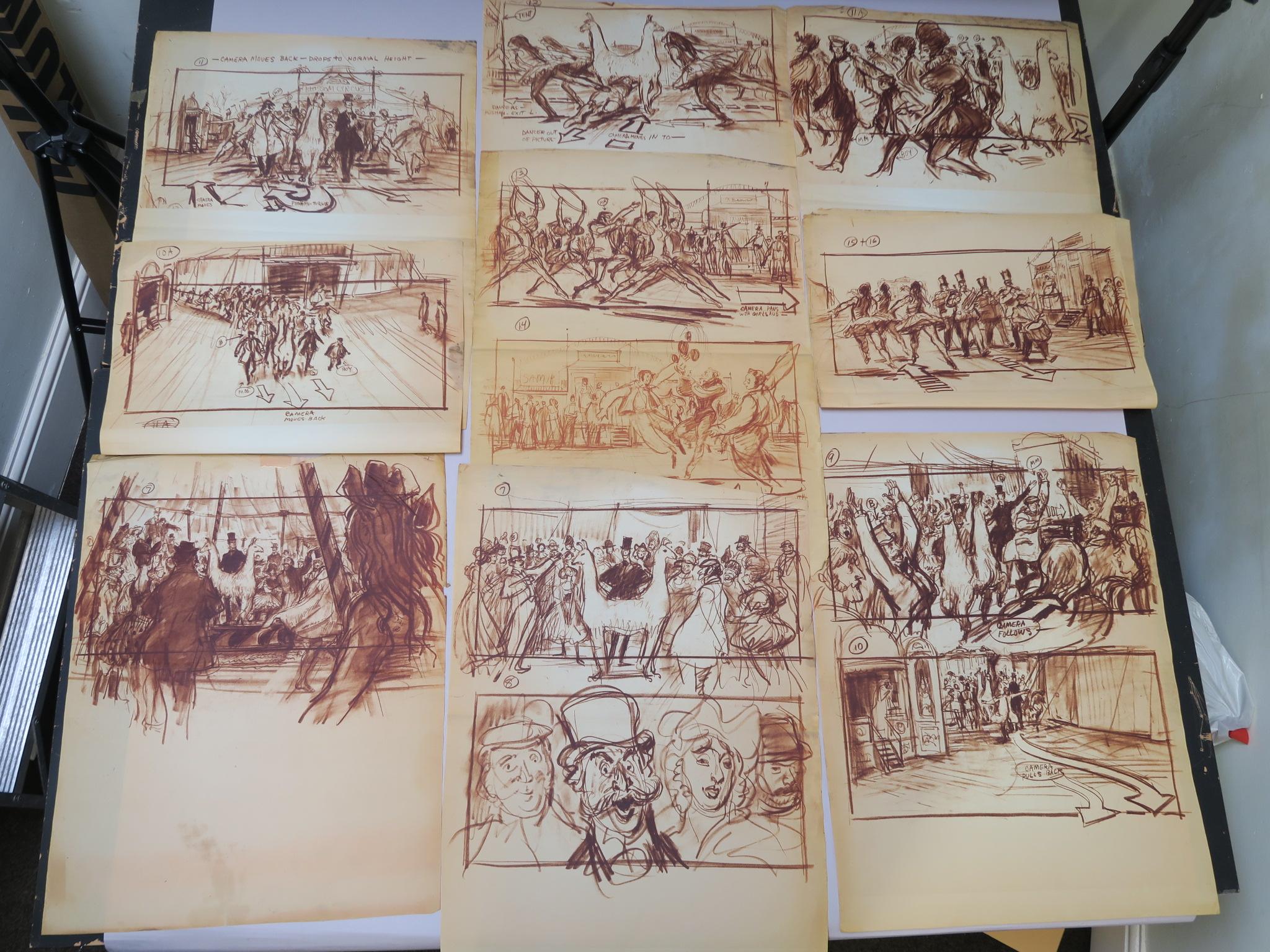 Lot 106 - Doctor Dolittle (1967) printed storyboards by Mentor Huebner (production illustrator)depicting