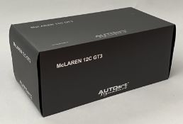 AutoArt Signature 1/18 scale McLaren 12C GT3. Boxed. CONDITION REPORT: sealed in polystyrene inner