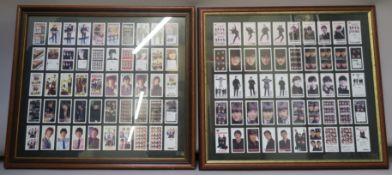 Beatles Warus card collections series including full colour and black & white cards, in two frames