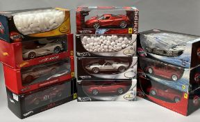 11 Mattel HotWheels 1/18 scale model cars. All boxed.