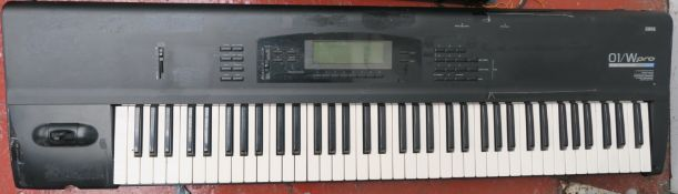 Korg 01/W Pro Music Workstation keyboard Synthesizer from 1991 with AI2 Synthesis system, wave
