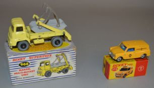 2x Dinky Toys and Supertoys, boxed: #966 Marrel Multi-Bucket Unit and #274 AA Mini Van.