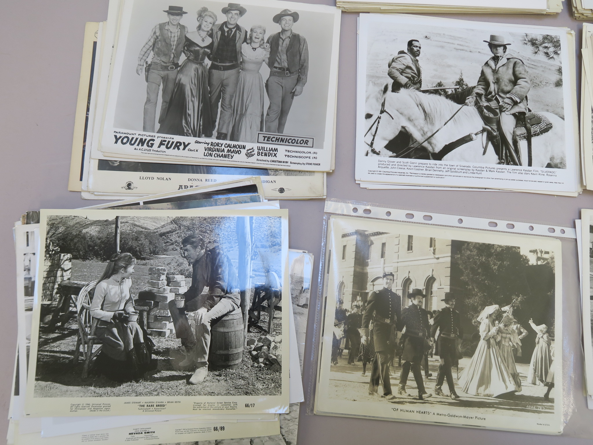 Lot 47 - Vintage Western genre cinema stills (approx 600) in various conditions and ages stars include