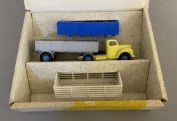 Dinky Toys No.424 Commer Convertible Articulated Truck with original box.