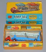 Corgi Toys Major Gift Set #1 Car Transporter with Four Cars, including #200 ford Consul Saloon, #205