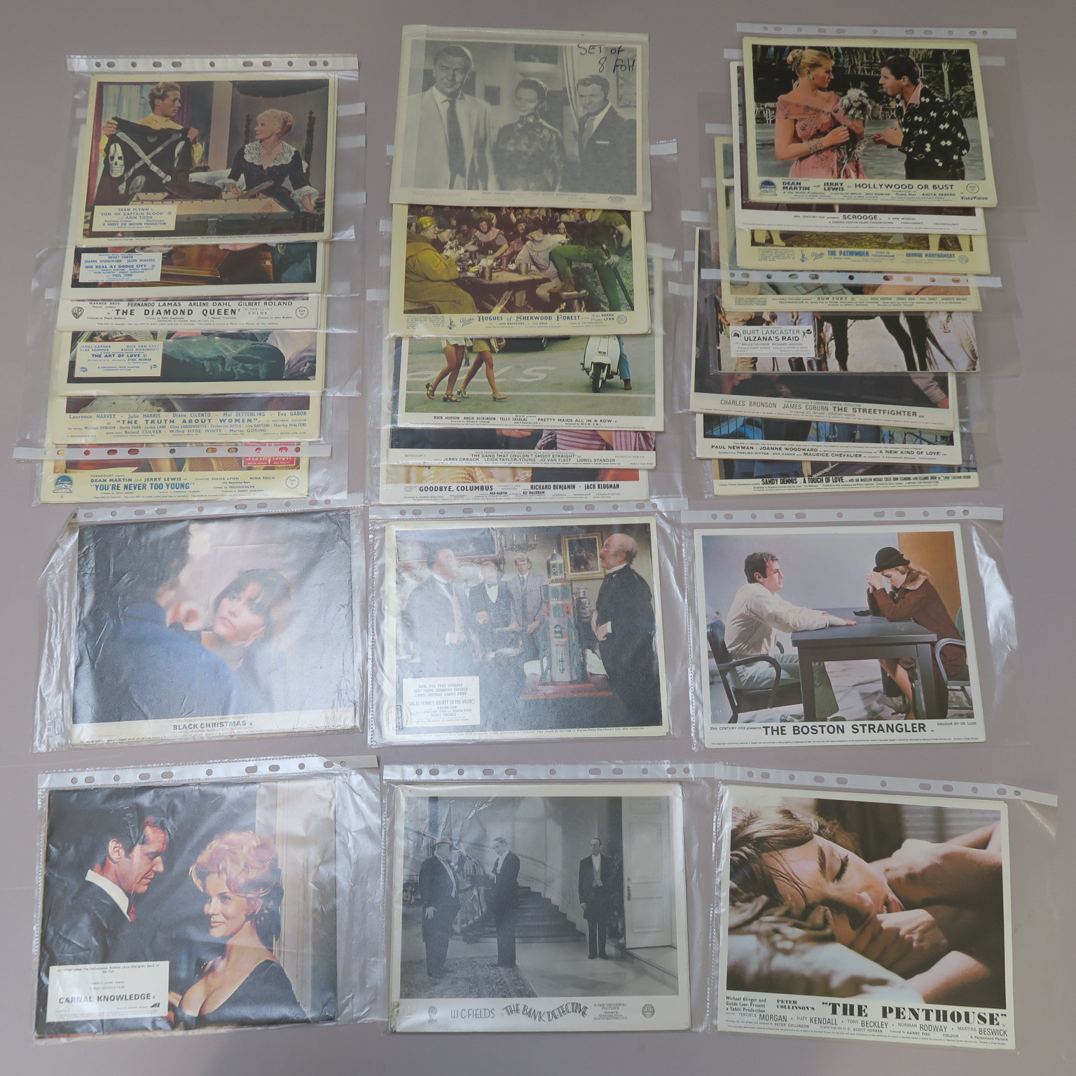 "Lot 52 - 25 full sets of front of house lobby cards (200 cards in total) titles include ""Son of Captain"