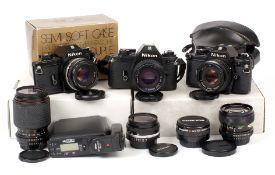 Nikon EM Film Camera Outfit.