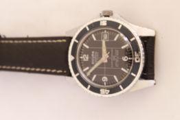 A Sicura Submarine 1970's gents mechanical 23 jeweled wristwatch, working