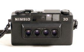 A 4-Lens Nimslo 3D Lenticualr Camera.