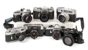 Group of Pentax Cameras & Lenses.