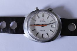 OMEGA - A 1969 Omega Chronostop mechanical gents wristwatch, stop function working correctly, with