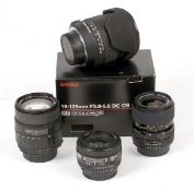 Group of Nikon AF Lenses.