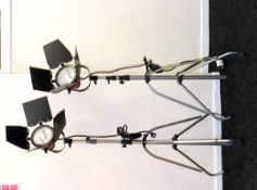 Pair of Wasin RDG-800 Red Head Spotlights & Manfrotto Stands.