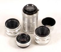 Group of Four Carl Zeiss Lenses.