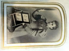 Rare Photograph of Elegant Lady with a Rotary Photo Frame.