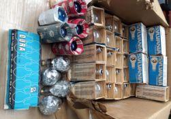 35 Sylvania #3 Low Peak 'Blue Spot' Flash Bulbs, Plus Others.