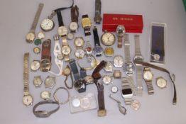 A quantity of wristwatches to include automatic & mechanical MuDu, Timex, Sekonda, Everite,