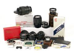 Group of Contax/Yashica Lenses, inc Vivitar 19mm.