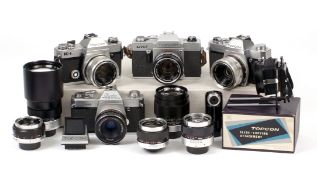 Group of Topcon Cameras, Lenses & Close-up Accessories.